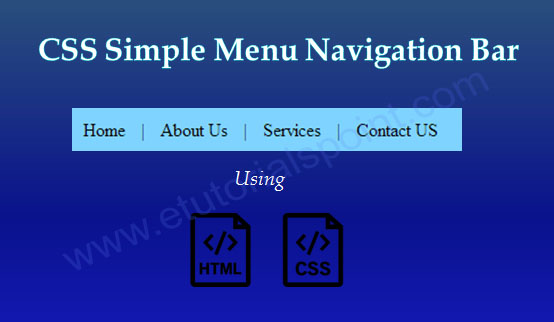CSS Simple Menu Navigation Bar