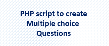How to create a multiple choice quiz in PHP and MySQL